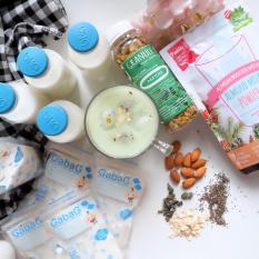 Asi Booster Rasa Matcha (Green Tea) / pelancar asi / Susu Almond / Yummy's Almom booster Milk