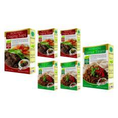 Beli 3 Rendang Daging Sapi & 3 Rendang Jamur Tiram