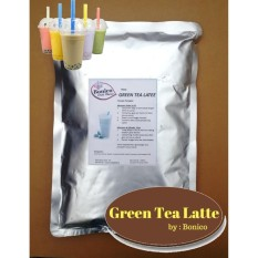 BONICO Green Tea Latte Powder 1Kg Bubuk Minuman Teh Hijau Drink Flavor Powder Ice Blend Milk Shake