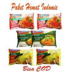 BORONG DONK - Paket Hemat Indomie 6 Bungkus - Indomie Mie Aceh - Indomie Sambal Rica-rica - Indomie Soto Medan - Bisa COD