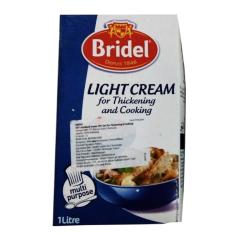 BRIDEL UHT LIGHT CREAM for Thickening and Cooking 18% FAT BRICK 1Lt