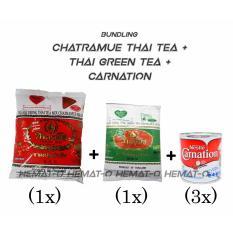 Bundling C1 Chatramue Thai Tea Thai Green Tea Carnation Free Bublewrap Original