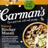 Toko Carman S Natural Bircher Muesli Inc Oat Grains 500G Sereal Online