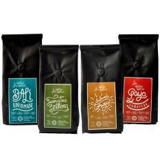 Coffee Toffee Kopi Arabika Paket 4 pak 200gr – Biji Kopi Grade Specialty Bali Kintamani, Sumatera Lintong, Sulawesi Toraja, Sumatera Gayo