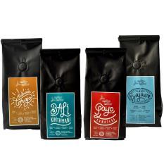 Coffee Toffee Kopi Arabika Paket 4 pak 200gr – Biji Kopi Grade Specialty Sulawesi Toraja, Bali Kintamani, Sumatera Gayo, Flores Bajawa
