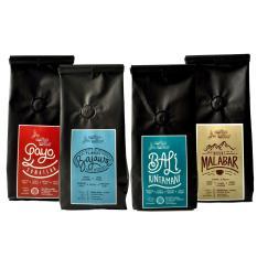 Coffee Toffee Kopi Arabika Paket 4 pak 200gr – Biji Kopi Grade Specialty Sumatera Gayo, Flores Bajawa, Bali Kintamani, Mount Malabar