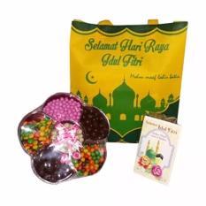 Coklat Delfi Mix Lagie Toples Bunga & Tas Idul Fitri Cantik Free Gift Card Coklat Lebaran