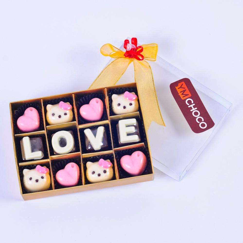 Beli sekarang Coklat Huruf Love HelloKity Pink 12Skat terbaik murah - Hanya Rp49.194