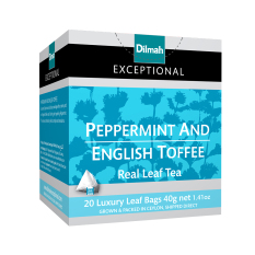Spek Dilmah Exceptional Peppermint English Toffee Teh Celup Leaf Tea Bag 20 Dilmah