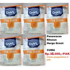 Grosir..!! 5 Pak OWL Teh Tarik 20's 340 gr@39rb (5pak=2KG)