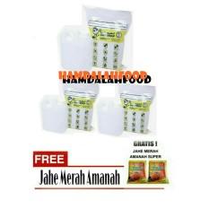 Hamdalahfood - 3 Air Zam Zam water Safe Wrap - 1 liter + Jahe Amanah