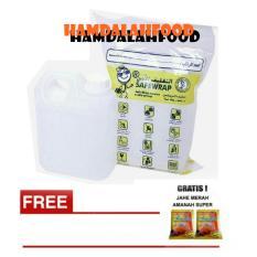 Hamdalahfood - Air Zam Zam water Safe Wrap - 1 liter + Jahe Amanah