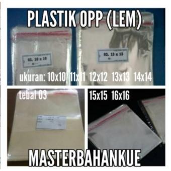 Pencarian Termurah HBT Plastik OPP (sdh ada lem seal) 14 X 14 sale -