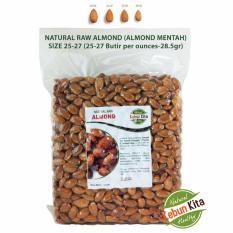 Toko Kacang Almond 1Kg Natural Raw Almond Kebun Kita