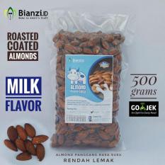 Dapatkan Segera Kacang Almond Panggang Rasa Susu 500 Gram