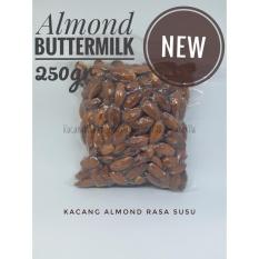Promo Toko Kacang Almond Panggang Rasa Susu Tanpa Cangkang 250Gr