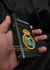 Kotak Rokok Korek Gas Real Madrid- Bungkus Rokok Klub Bola- Mancis