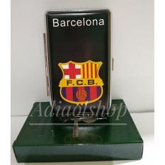 Kotak rokok Logo Club Sepak Bola Barcelona - Hitam