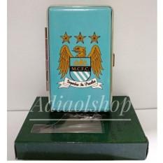 Kotak rokok Logo Club Sepak Bola Man City - Biru
