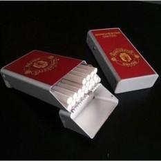 Top_Figure Kotak Tempat Rokok Plus Korek Api Motif Club Bola Man United - Merah