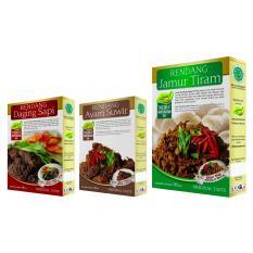 Rendang Daging Sapi, Ayam Suwir & Jamur Tiram