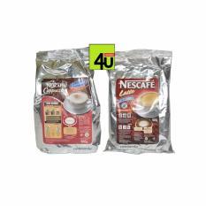 Harga Nescafe Paket 2 Bks Latte Dan Cappuccino Caramel 2X500G Merk Nescafe