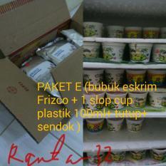 Paket E(Bubukeskrimfrizco 500grm+1 Slop Cup Plastik 100ml+Lengkap Dengan Tutup Dan K)