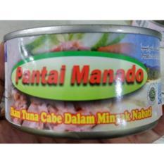 Pantai Manado Ikan Tuna Kaleng dengan Cabe dalam Minyak 180 gr 5 kaleng