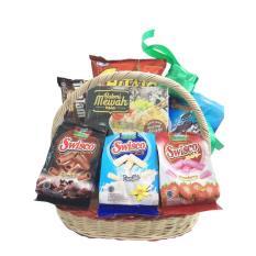 Parcel Lebaran Idul Fitri Festive Treats Dengan Keranjang Cocok Hadiah Lebaran