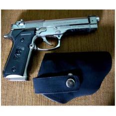 Pistol Korek Api Laser Baretta Free Sarung - Silver