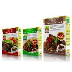 Rendang Daging Sapi, Jamur Tiram & Ayam Suwir semuanya NO CHILI