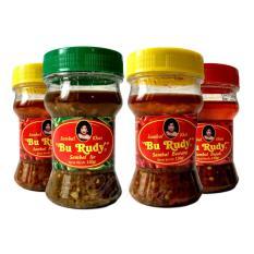 Sambal Bu Rudy Khas Surabaya - Sambal Bawang 1 btl + Ijo 1 btl + Bawang 1 btl + Bajak 1 btl