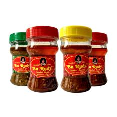 Sambal Bu Rudy Khas Surabaya - Sambal Ijo 1 Btl + Bajak 1 btl + Bawang 1 btl + Bajak 1 btl