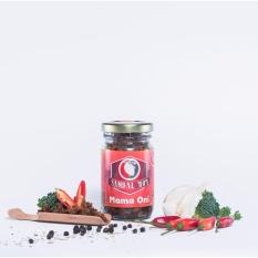 Sambal Roa Mama Oni - Mediumhot - 90gram - Sambal Abon Ikan - Halal (1 Botol)