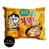 Samyang Cheese Hot Spicy Chicken Ramen Noodles Paket Isi 5 Pcs North Sumatra Diskon 50