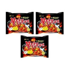 Samyang Hot Chicken Ramen Spicy 140 Gr - Mie Goreng Instan Pedas Rasa Ayam - 3 Pcs