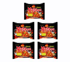 Samyang Hot Chicken Ramen Spicy 140 Gr - Mie Goreng Instan Pedas Rasa Ayam - 5 Pcs
