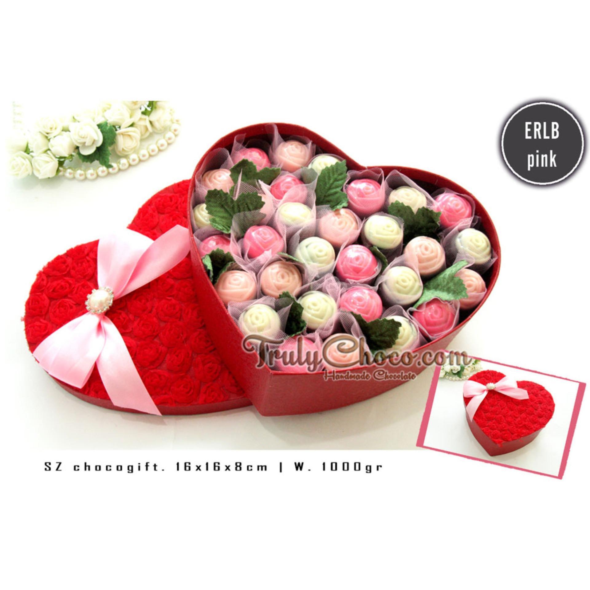 Beli sekarang Trulychoco buket coklat exclusive -PINK - Packing Red bentuk hati terbaik murah - Hanya Rp182.200
