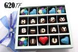 Jual Cepat Trulychoco Cokelat Hadiah Ulang Tahun Happy B Day I Love U Tutup Mika Blue