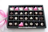 Jual Trulychoco Cokelat Hadiah Ulang Tahun Happy B Day My Love Tutup Mika Black Trulychoco Asli