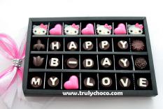 Toko Trulychoco Cokelat Hadiah Ulang Tahun Happy B Day My Love Tutup Mika Black Trulychoco Di Jawa Timur