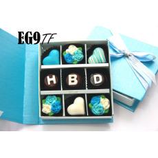 TrulyChoco Cokelat Hadiah Ulang Tahun – HBD - Tutup Hardcover Blue