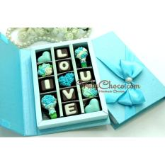 Diskon Trulychoco Cokelat Love Edition I Love You Tutup Hardcover Blue Branded