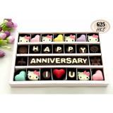 Review Trulychoco Coklat Hadiah Ulang Tahun Happy Anniversary I Love U Tutup Mika Pink Trulychoco Di Jawa Timur