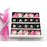 Harga Trulychoco Coklat Hadiah Ulang Tahun Happy B Day Tutup Mika Pink Murah