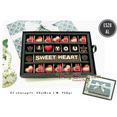 Harga Trulychoco Coklat Love Editions I Love You Sweet Heart Packing Sliding Hitam Putih Trulychoco Online