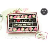 Toko Trulychoco Coklat Love Editions I Love You Sweet Heart Packing Sliding Pink Lengkap