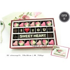 Jual Trulychoco Coklat Love Editions I Love You Sweet Heart Packing Sliding Pink Baru