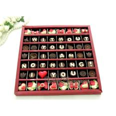 Spesifikasi Trulychoco Coklat Love Editions Without You I Am Nothing I Love You Tutup Hardcover Merah Dan Harga