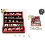 Trulychoco Coklat Love Editions Only You In My Hearth Tutup Mika Red Diskon Akhir Tahun